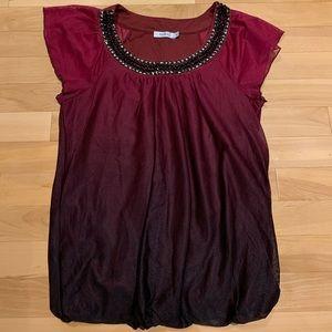 Women's ombré short sleeve dress t-shirt - size M